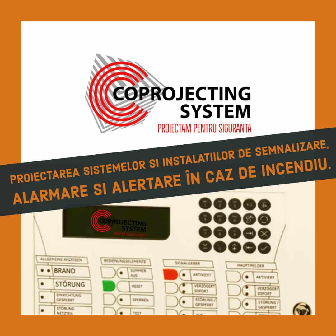 Proiectare a sistemelor şi instalaţiilor de semnalizare, alarmare şi alertare în caz de incendiu, pentru obţinerea avizelor