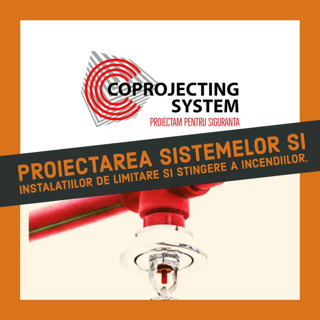 Proiectare a sistemelor şi instalaţiilor de limitare şi stingere a incendiilor, pentru obţinerea avizelor